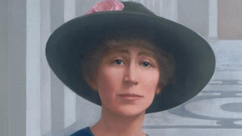 A portrait of Jeannette Rankin