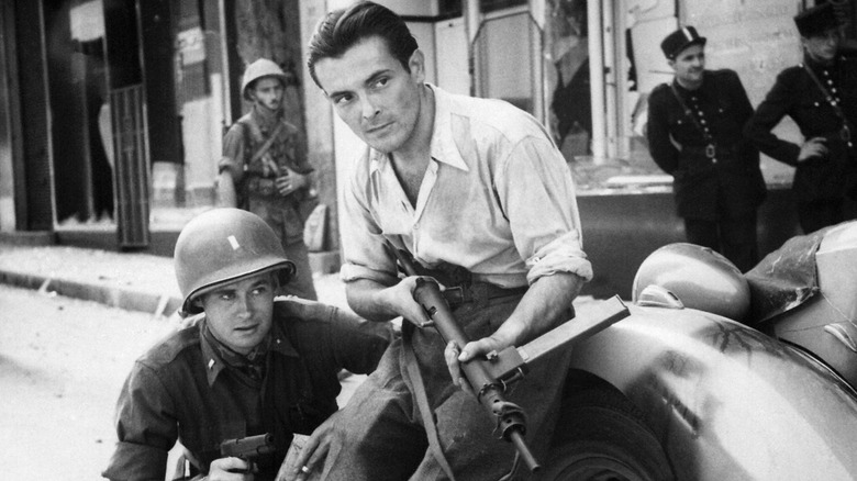 American soldier and French Resistance fighter in 1944