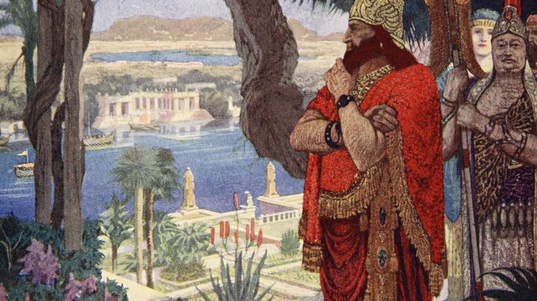 nebuchadnezzzare in the hanging gardens of babylon