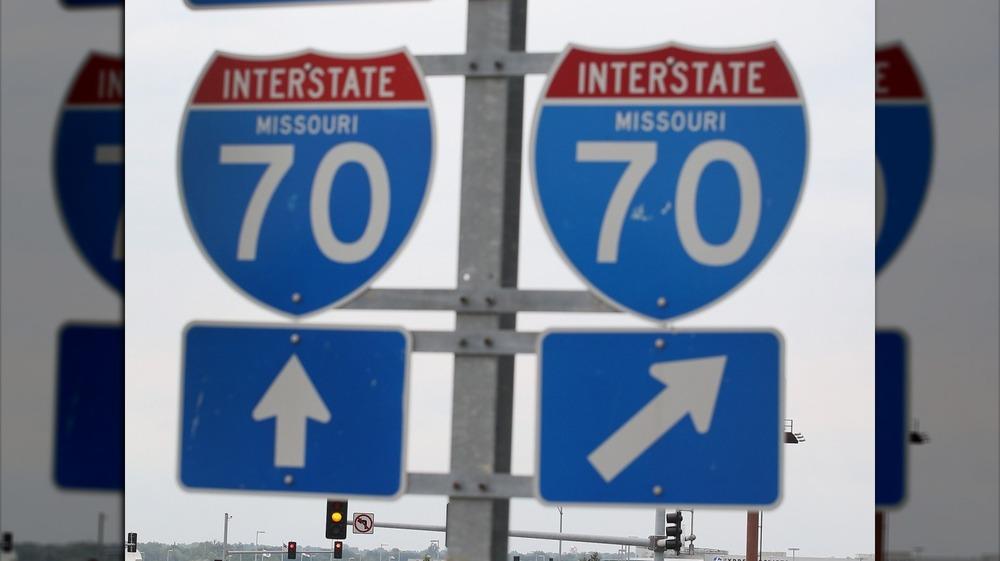 Interstate 70 Missouri signs