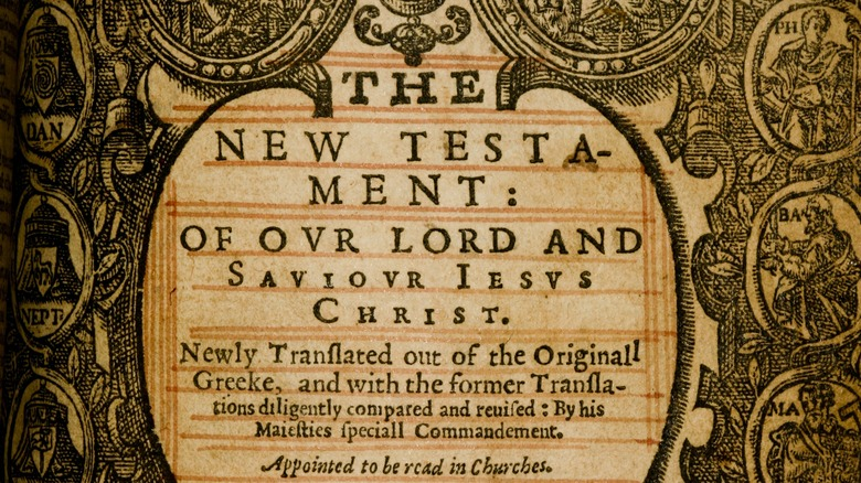 Frontispiece to the King James Bible, 1612