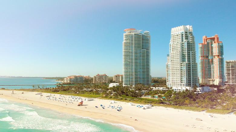 Beach in Miami on sunny day