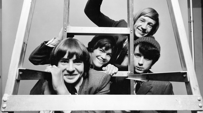 The Monkees posing for a publicity photo