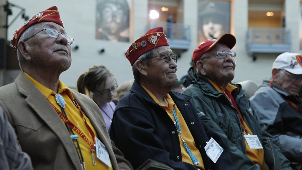Bill Toledo, Frank G. Willetto and Keith Little, Navajo Code Talkers in 2010