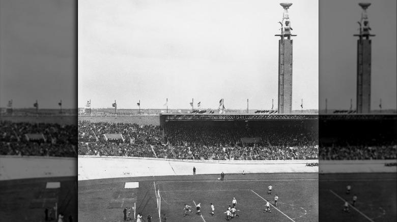 1928 olympics with cauldron