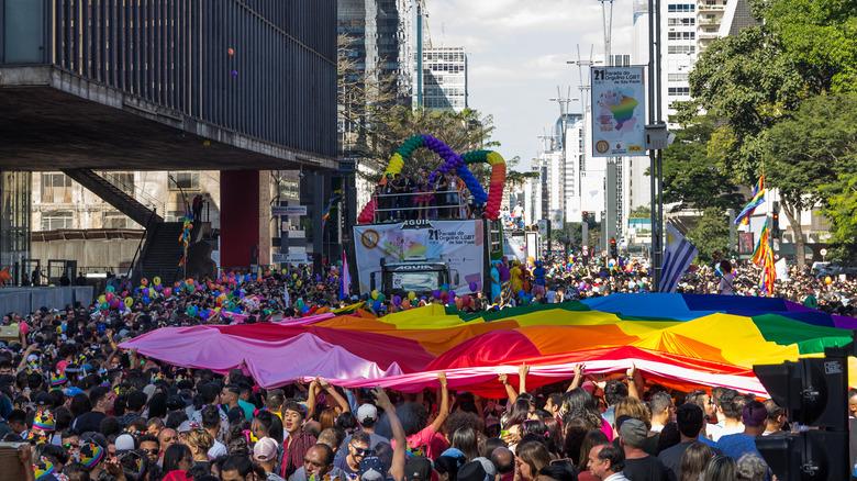 Pride flag Sao Paulo