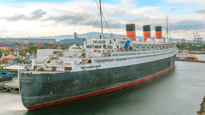 The Queen Mary at Port in Long Beach