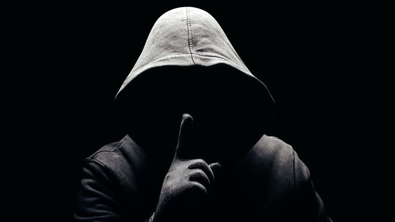 Criminal in a black hoodie