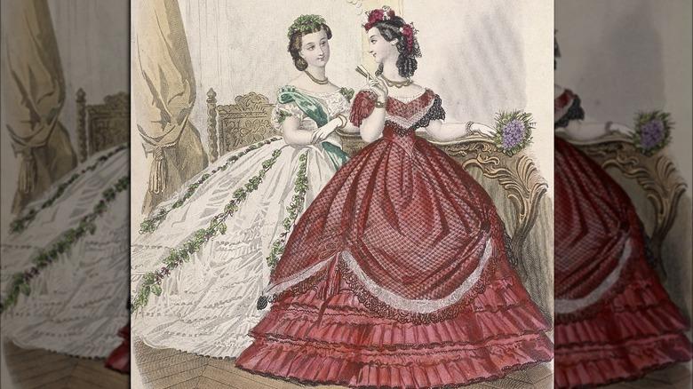 Victorian women illustration
