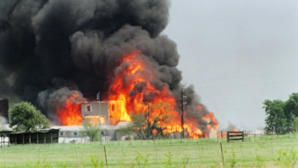 Fire on the compound at Waco