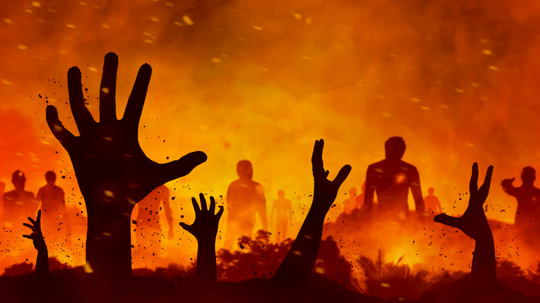 Zombies in a fire
