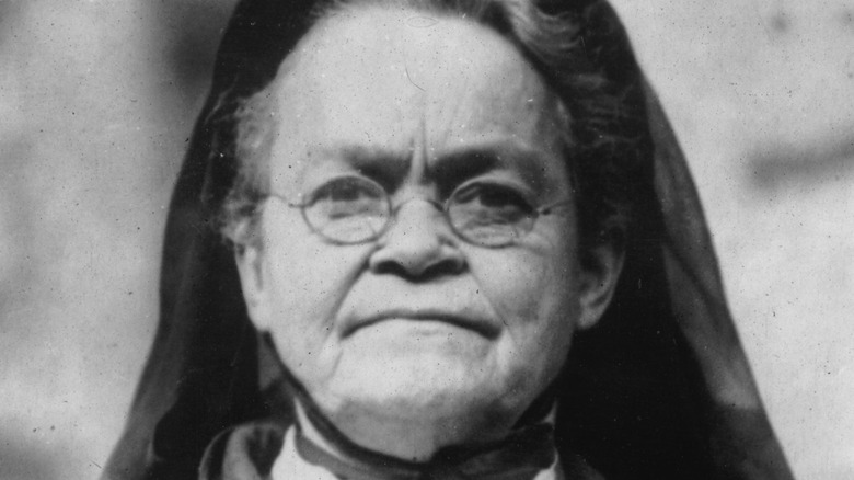 Carrie Nation scowling