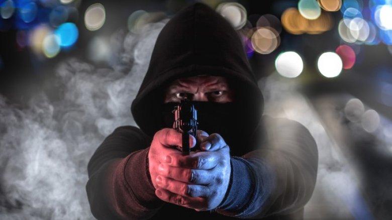 Crook with gun