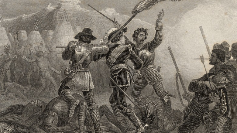 settlers attacking native americans