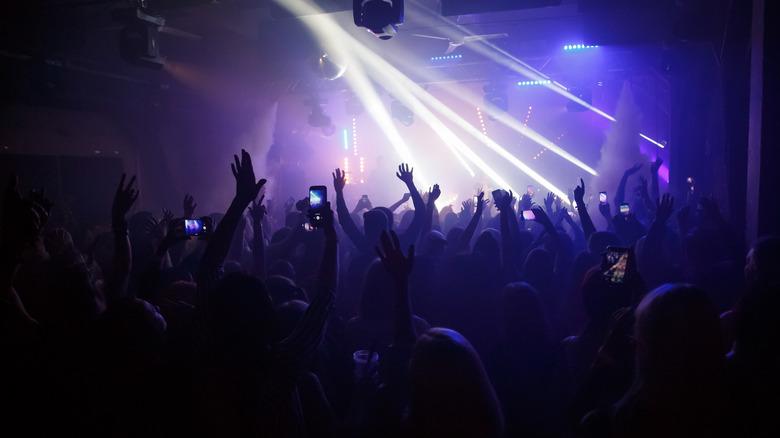 concert stage lit up