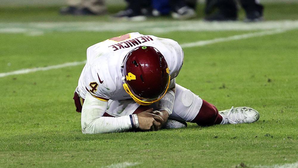 Injured football player down