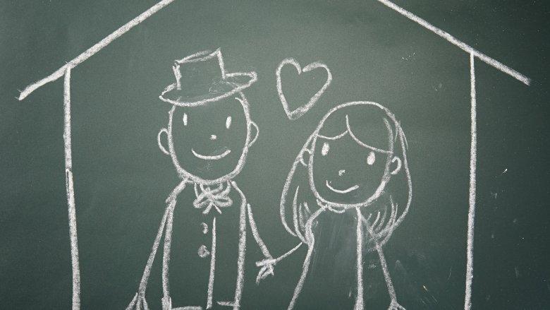chalkboard couple