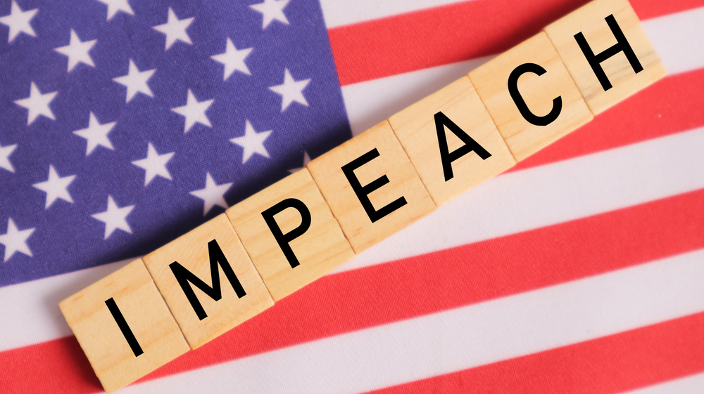 Impeach and American flag