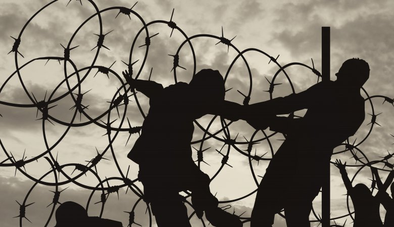 barbed wire prisoner