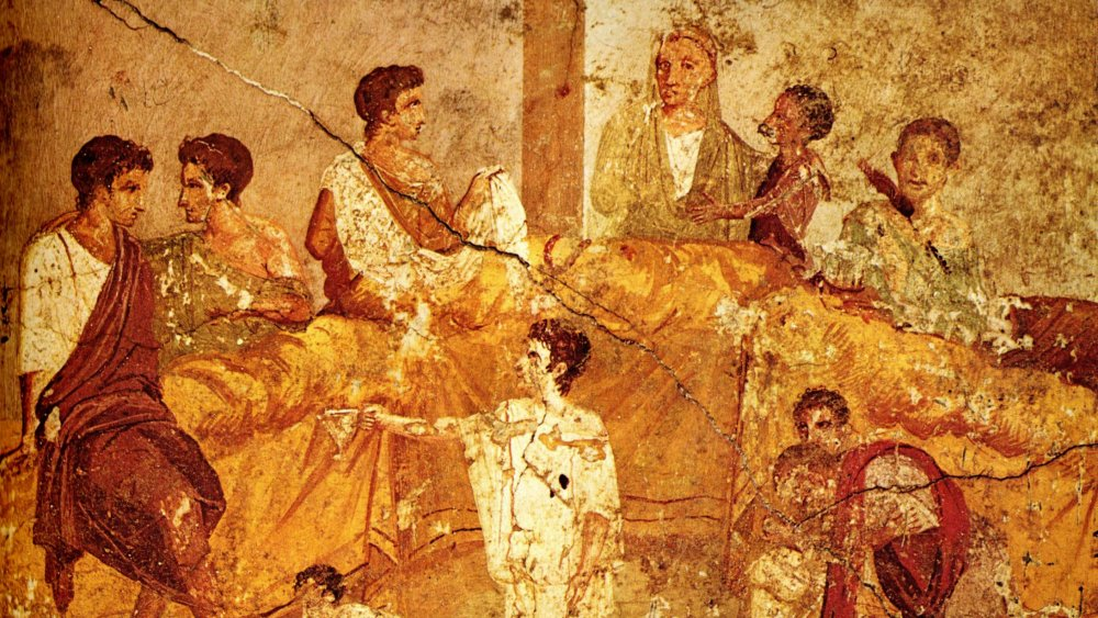 A painting from before 79 AD of a family party in Pompei