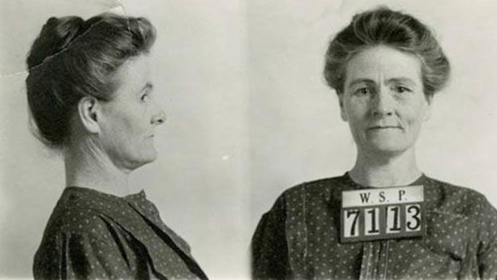 A mugshot of Linda Hazzard