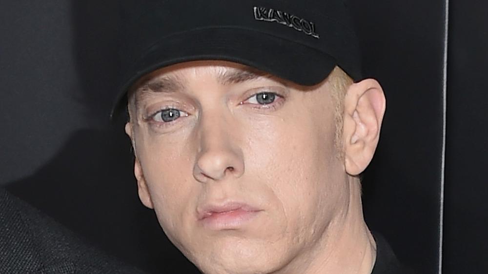 Eminem frowning