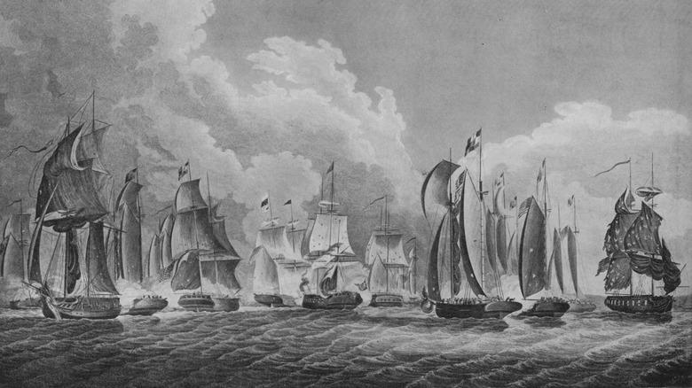 British and American flotillas