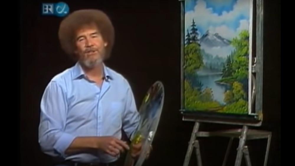 Bob Ross paints a lovely landscape