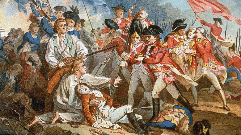 The Death of General Warren at the Battle of Bunker's Hill' - by John Trumbull