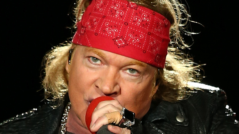 Axl Rose on stage