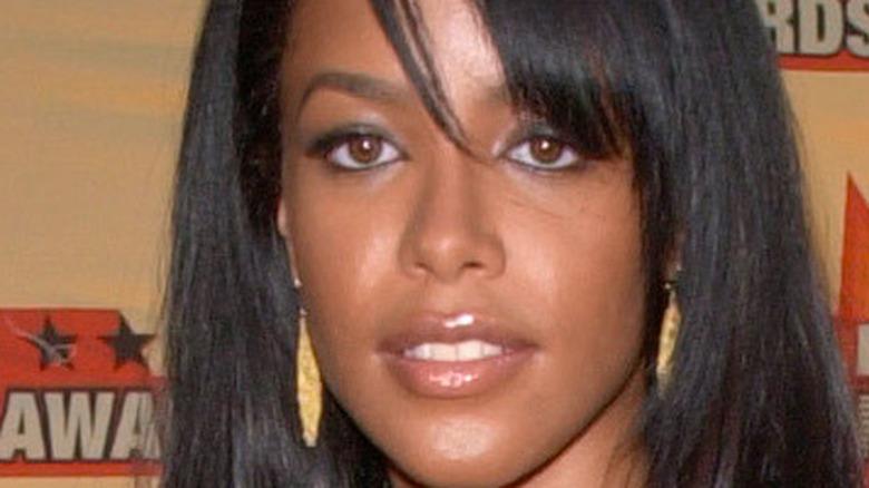 Aaliyah staring