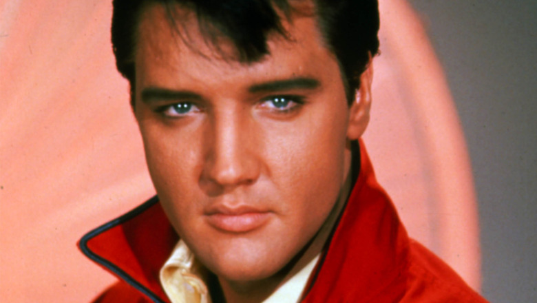 Elvis Presley posing