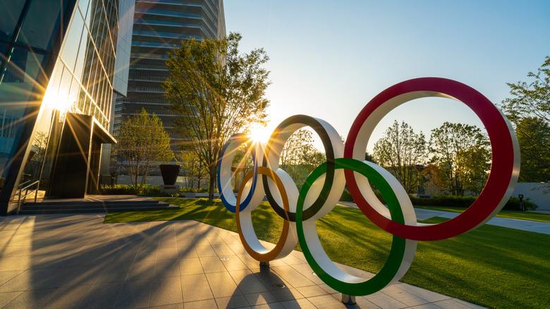 Olympic symbol in Tokyo