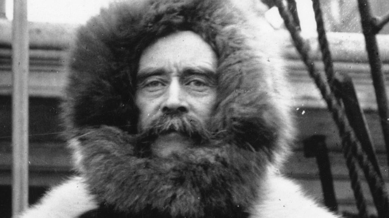 Robert Peary in snow suit
