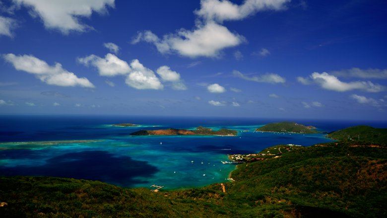 Necker Island in the distance