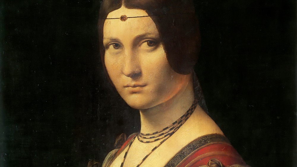 """Portrait of a Lady from the Court of Milan (sometimes incorrectly """"La Belle Ferronière"""")"""