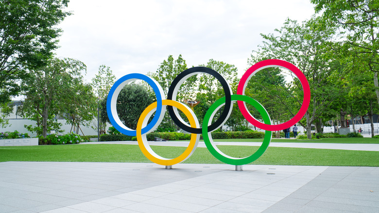 Photo of Olympic rings in Japan