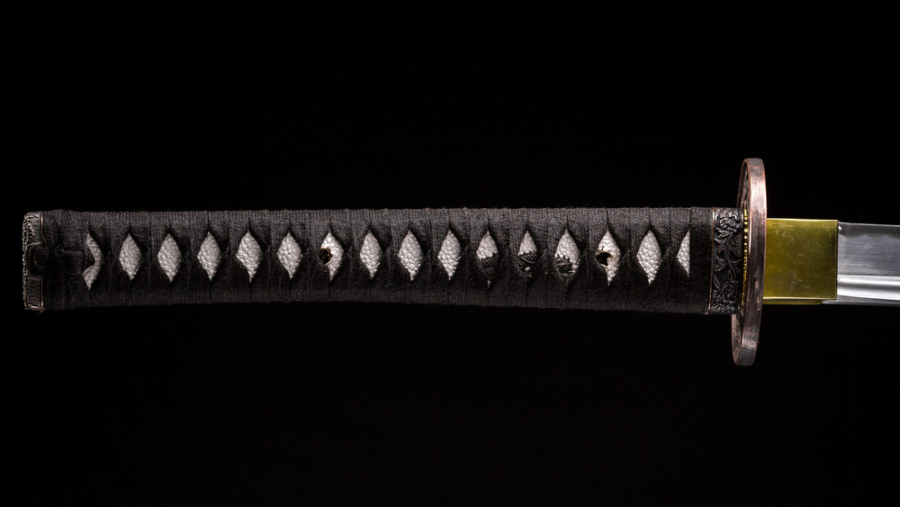 braided hilt of a Katana tsuka