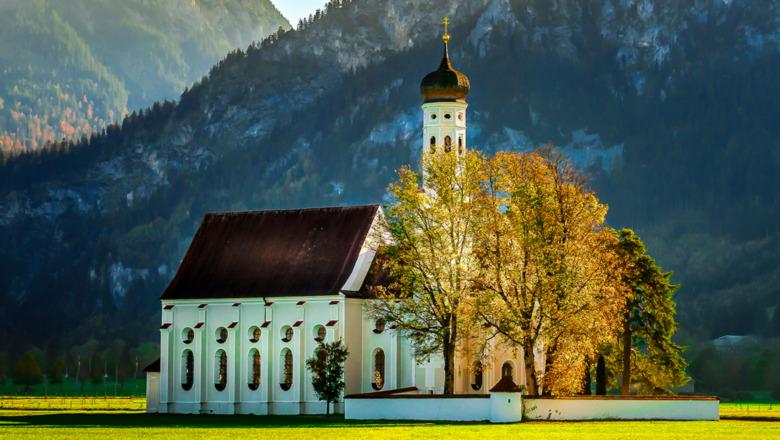 Church in idyllic setting