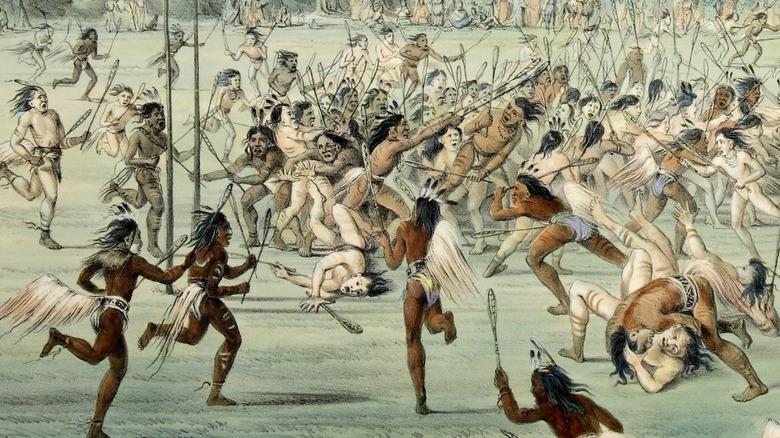 Native Americans at play