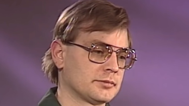 Jeffrey Dahmer giving interview close up face