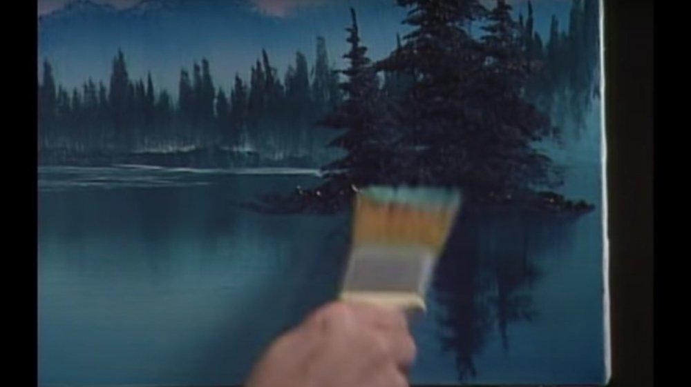 Bob Ross paints a happy little tree