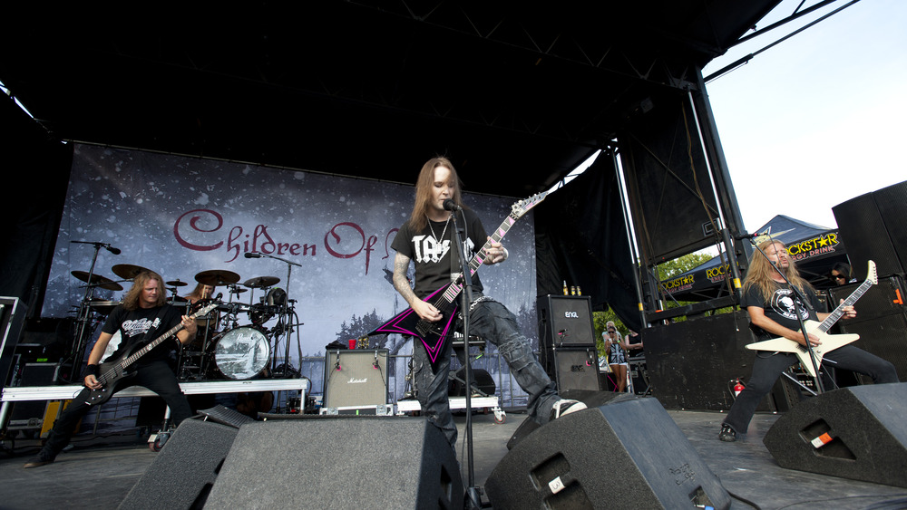 Children of Bodom performs in concert.
