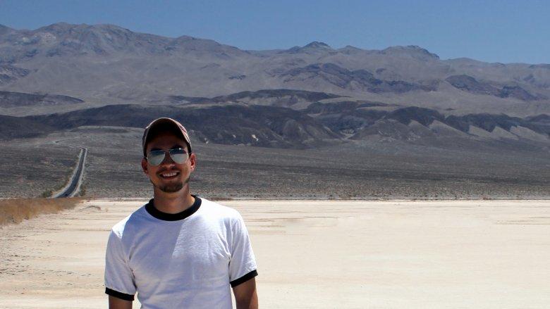 Death Valley, man