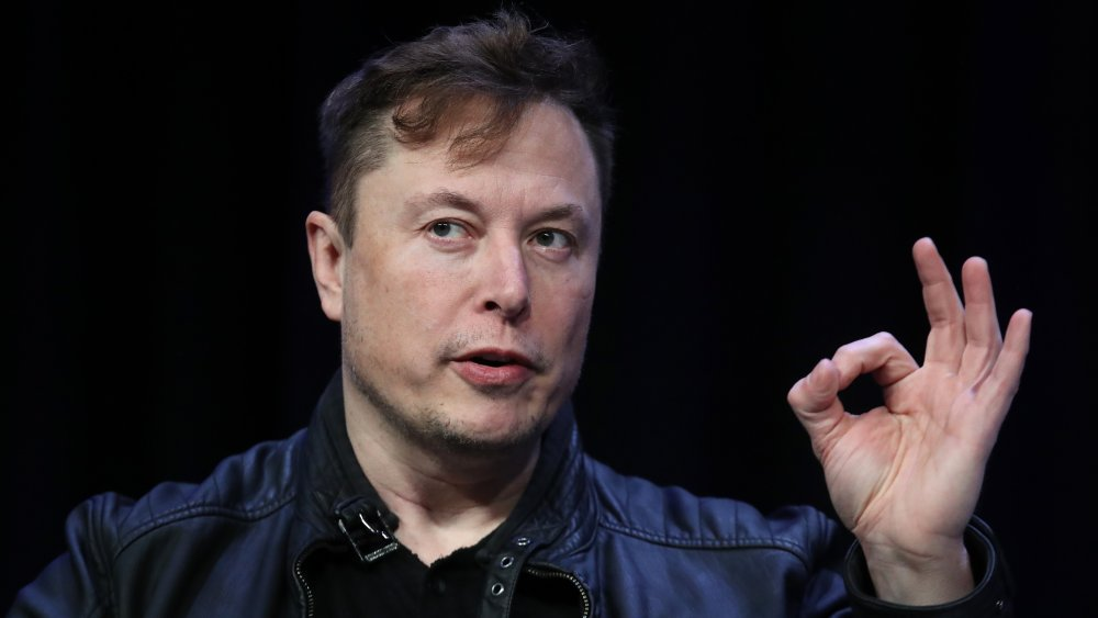 Elon Musk speaks at a Satellite Conference and Exhibition in 2020