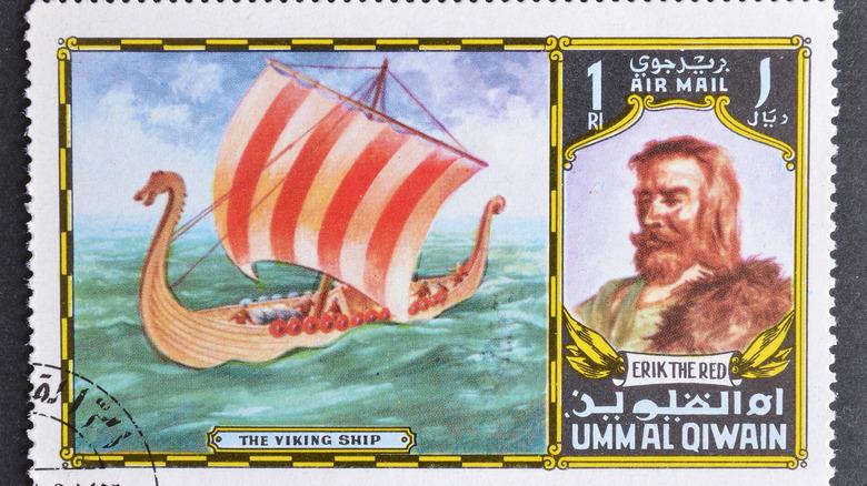 Viking Erik the Red stamp