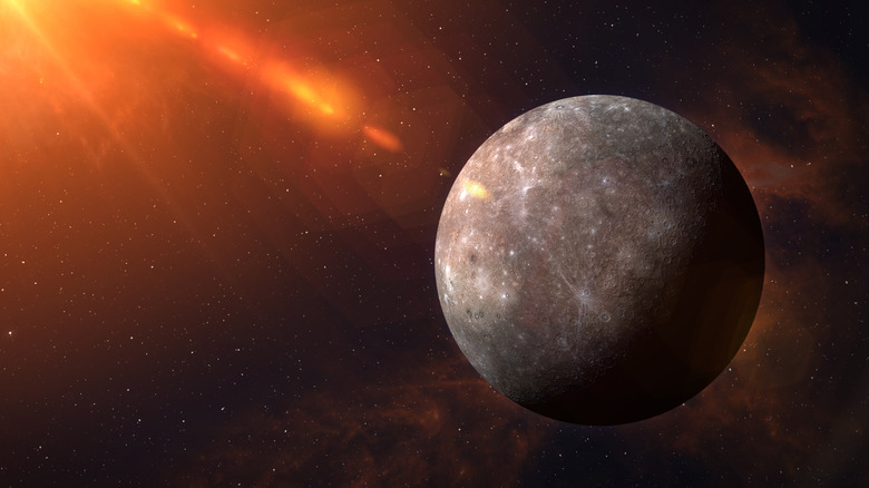 Planet Mercury from space