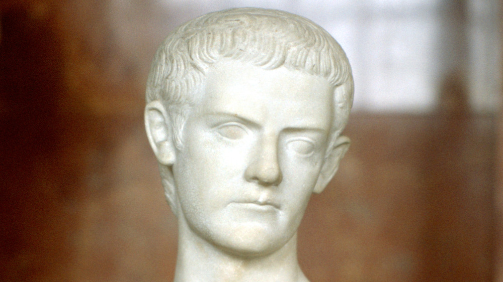 A bust of Emperor Caligula from the Louvre in Paris