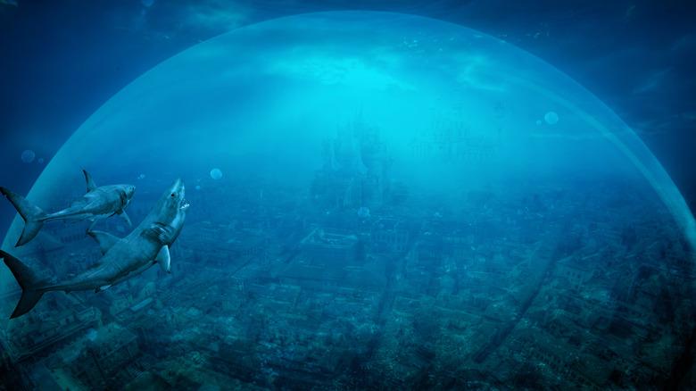 Mysterious ocean city