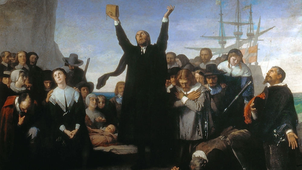 Puritans disembarked from the Mayflower
